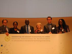 Delegation from Namibia at the 15th Annual Conference of the German Council for Sustainable Development on 3rd June 2015 in Berlin Germany