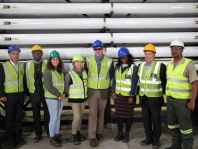 Members of the SDAC at the Wlotzkasbaken Desalination Plant