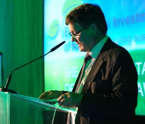SDAC Chairperson, Dr. Malan Lindeque giving the welcoming remarks at the Sustainable Development awards