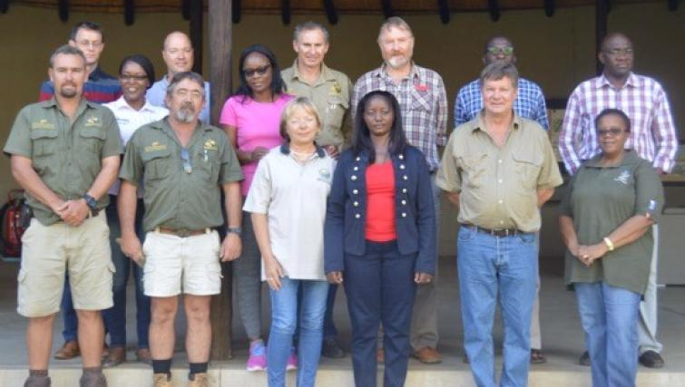 SDAC members with senior management officials from the B2Gold Namibia mine and Otjikoto Environmental Education Center and Nature Reserve.