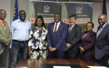The SD Advisory Council Members with the Hon. Minister of Environment and Tourism at their reappointment ceremony (Absent from picture: Ms. Martha Naanda, Dr. Chris Brown and Dr. Gabi Schneider)