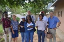 SDAC members with Mr. Jaco Venter of Plastic Packaging cc and Ms. Earth Namibia